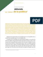 El valor de la política Angel Gabilondo