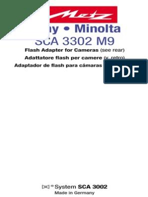 Minolta MS-2 Dynax//Digital Tipo Flash Soporte
