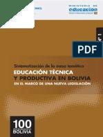 Educacion Tecnica y Productiva en Bolivia