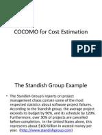 COCOMO for Cost Estimation
