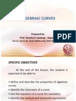 Lesson 13 Algebraic Curves