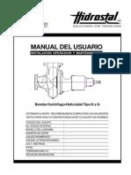 Manual Bomba Centrífugo Helicoidal Tipo K y Q