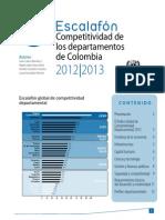 Escalafon de La Competitividad 2012-2013