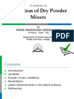 Validation of Dry Powder Mixer