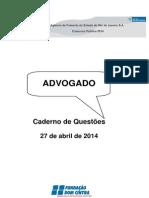 Concurso AgeRio 2014. Prova para o cargo de Advogado