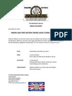 Nov 25-2014 Media Advisory_OLCN Litigation on C27