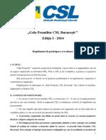 Regulament de Participare Cala Premiile CSL Bucuresti