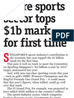 Big sports events bring economic gains, 10 Dec 2009, Straits Times
