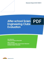 DCSF - Clubs Evaluation - Final Report - November 2008