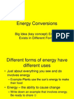 energy conversions notes section 3 1