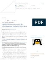 Gerenciamento de Pontos de Montagem No Linux