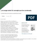 2014-11-25 EPdA CHA Exige Dimitir Al Concejal Que Fue Condenado Recorte