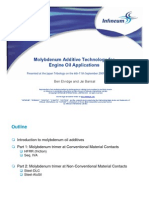 Molybdenum Additive Technology for Engine Oil Applications - Japan Tribology 2009