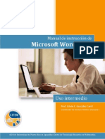 Word 2013, Uso Intermedio