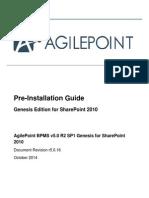 AgilePoint PreInstallation Genesis