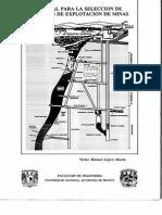 Manual Para La Seleccion de Metodos de Explotacion de Minas