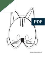 Caretas Gato Colorear