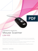 LG LSM-100 Mouse Scanner Manual