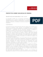 Proyectos Violencia de Género
