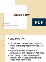 EXIM Policy