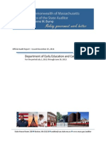 Audit Report - Department of Early Education & Care