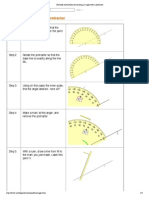 printable instructions for drawing an angle with a protractor
