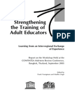 Strengthening the Training of Adult Educators