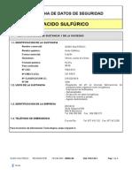Ficha de Datos de Seguridad Acido Sulfurico