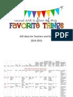 Favorite Things 2014-2015
