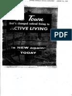 Sun City Az Republic Special Supplement Jan 29 1961 - Ltr 106