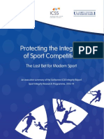 Sport Integrity Program - Executive Report (Sorbonne/ICSS)