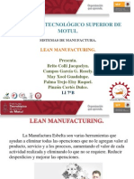 Introduccion de Lean MANUFACTURING