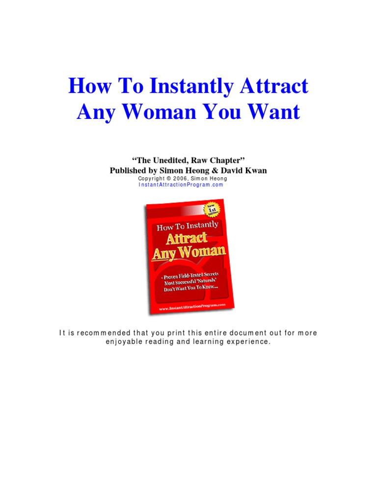 How to attract any woman instantly