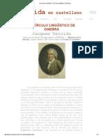 Derrida en Castellano - El Círculo Lingüístico de Ginebra