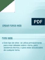Crear Foros WEB