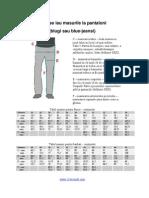 Cum Se Iau Masurile La Pantaloni