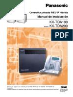 Centralita Privada PBX-IP Hbrida Manual de Instalacin KX-TDA100 KX-TDA200