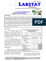 PSA Labor Statistics, 2014