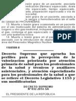 Perfiles Para Tecnicos y Auxiliares Asistenciales 06-11-2014-D.S. Nro. 032-2014-SA