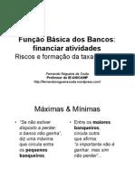 Aula 10 Financiar Atividades Riscos e Formacao Da Taxa de Juros