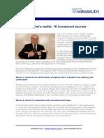 Buffetts Investment Secrets