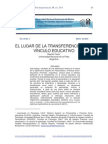 EL LUGAR DE LA TRANSFERENCIA EN EL VÍNCULO EDUCATIVO