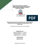 ANÁLISIS DEL EJERCICIO DEL PROFESIONAL DEL DERECHO DENTRO DEL MARCO ÉTICO CON RELACIÓN AL SISTEMA JURÍDICO LEGAL VENEZOLANO