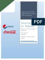Coca Cola Co vs Pepsico