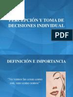 Percepcion y Toma de Decisiones Individual
