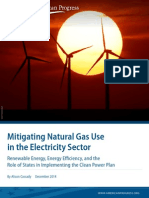 Mitigating Natural Gas Use in the Electricity Sector