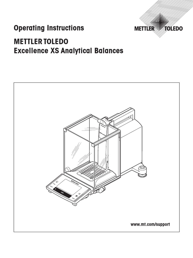 METTLER TOLEDO Excellence XS Analytical Balance manual.pdf