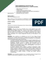 Auto admisorio de la demanda de Habeas Data de Liber contra el MEM