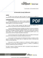 Proyecto Para Regular Los Pedidos de Informe Que Realiza El HCD Al de.