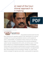The Political Need of the Hour Transformational Approach to Constitution Making